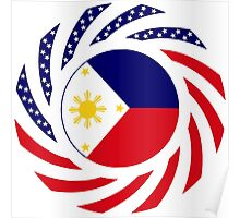 Filipino American Multinational Patriot Flag Series 1.0 Poster