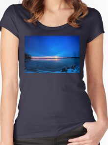 Near Winter Solstice Sunrise (HDR) Women's Fitted Scoop T-Shirt