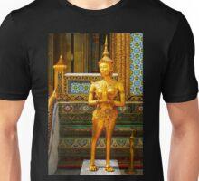 Golden kinnara statue in Grand palace Bangkok,Thailand Unisex T-Shirt