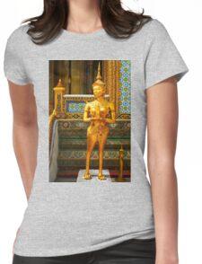 Golden kinnara statue in Grand palace Bangkok,Thailand Womens Fitted T-Shirt