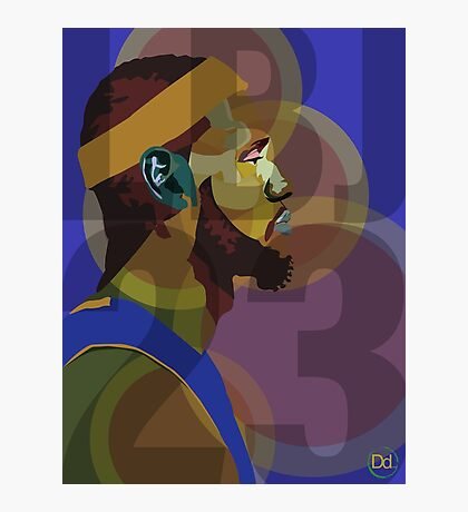LeBron James Graphic Photographic Print