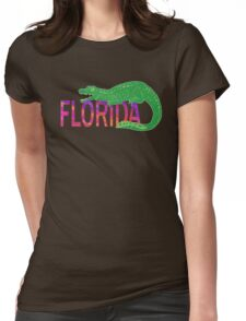 Florida Alligator  Womens Fitted T-Shirt