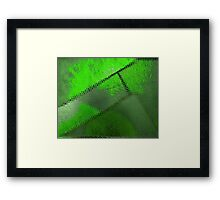 Steel Green Patch Framed Print