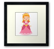 Fairy tale pink Princess  Framed Print