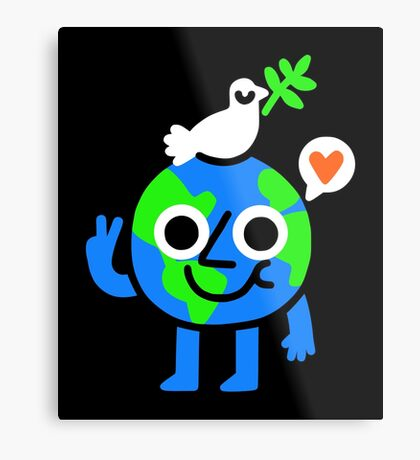 World Peace & Love Metal Print