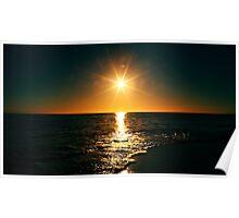 Sunrise On Ocean Poster