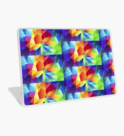Polygonal Triangles (Multicolor) Laptop Skin
