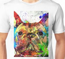 Frenchie Grunge Portrait Unisex T-Shirt