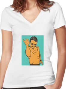 Salt Bae Women's Fitted V-Neck T-Shirt