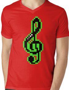 Rare Treble Clef - Pixels Mens V-Neck T-Shirt
