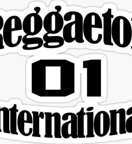 Reggaeton International 1 Sticker