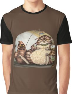 Jabba the Cat Graphic T-Shirt