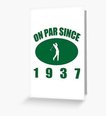 1937 Golfer's Birthday Greeting Card