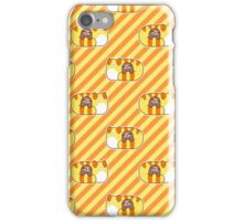 Tabby and Little Sloth Striped Pattern iPhone Case/Skin