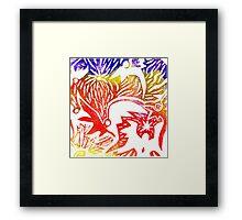 Coloured sky Framed Print