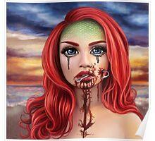 Hooked Mermaid Poster