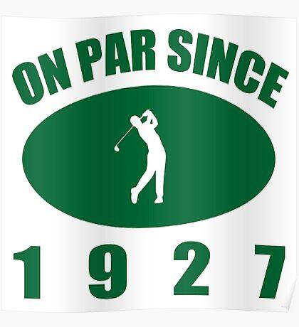 1927 Golfer's Birthday Poster
