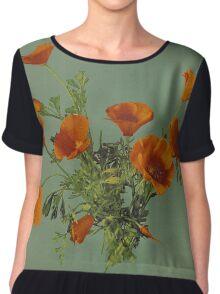 California Poppies Chiffon Top