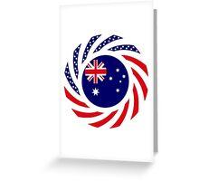 Australian American Multinational Patriot Flag Series Greeting Card