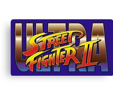 Ultra Street Fighter II 2 HD logo Canvas Print
