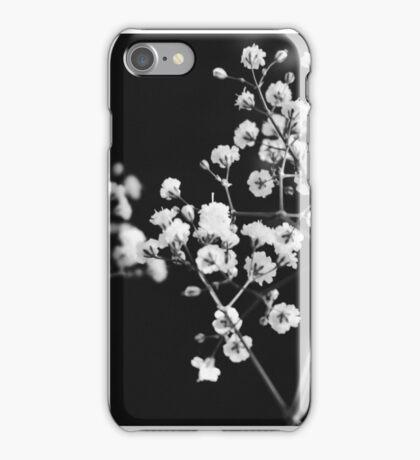Pretty Black & White Flowers iPhone Case/Skin