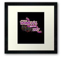 Womens March 2017 Support Framed Print