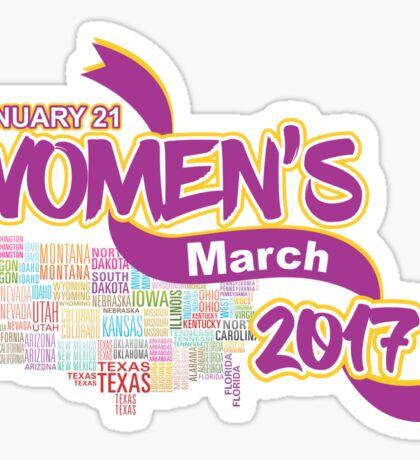 Womens March 2017 Support Sticker