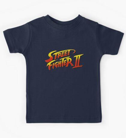 Street Fighter II 2 HD logo Kids Tee