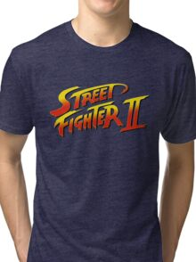 Street Fighter II 2 HD logo Tri-blend T-Shirt