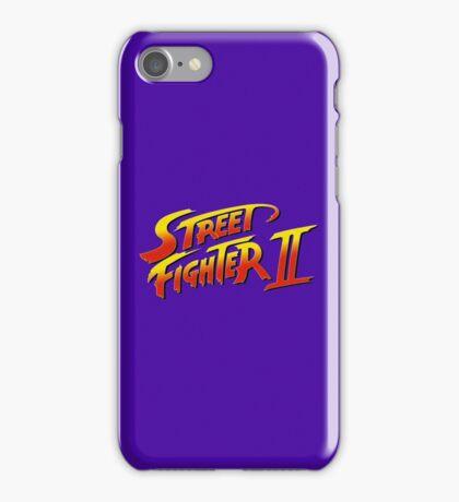 Street Fighter II 2 HD logo iPhone Case/Skin