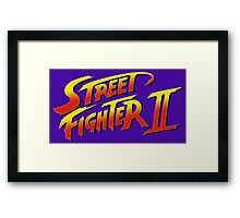 Street Fighter II 2 HD logo Framed Print
