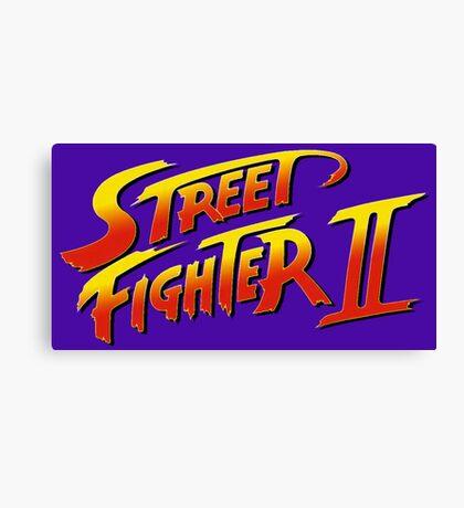 Street Fighter II 2 HD logo Canvas Print
