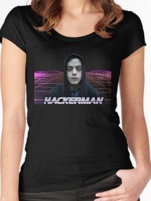 HACKERMAN - Sad elliot alderson Women's Fitted Scoop T-Shirt
