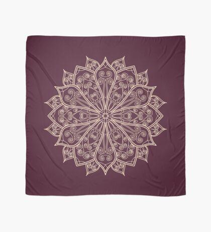 Complicated Mandala Lace on dark purple background. Scarf