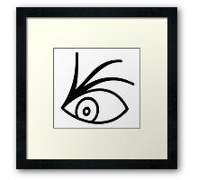 A Series Of Unfortunate Events Characters Netflix Series Olaf Tattoo Eye Framed Print