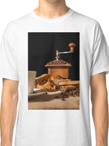 Close-up on dried orange fruit and cinnamon and coffee beans Classic T-Shirt