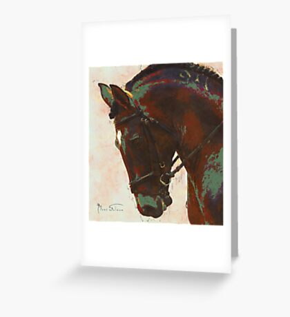 Dressage Horse 2 Greeting Card
