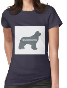 newfoundland gray name silhouette Womens Fitted T-Shirt
