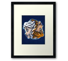 Seasonal Sisters Framed Print