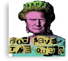 Donald J Trump God Save The Queen - Sex Pistols Canvas Print