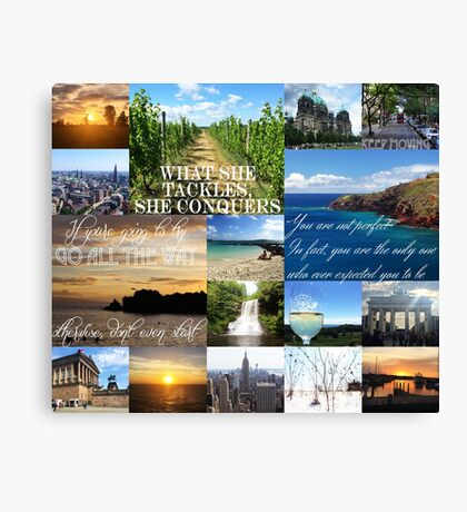 Inspirational Travel Quotes Canvas Print