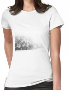 Mount Catria under the snow 09 Womens Fitted T-Shirt
