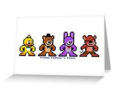 8-bit Five Night's at Freddy's Greeting Card