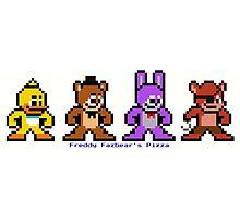 8-bit Five Night's at Freddy's Photographic Print