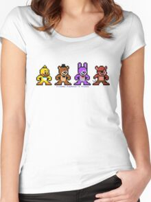 8-bit Five Night's at Freddy's Women's Fitted Scoop T-Shirt