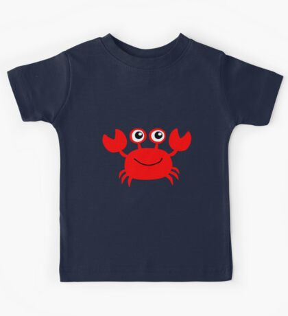 Funny red crab cartoon Kids Tee