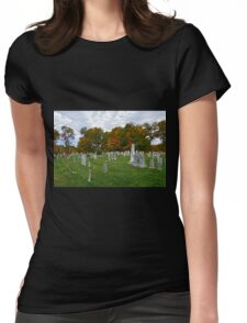 Old Yard Cemetery, Stowe, Vermont Womens Fitted T-Shirt