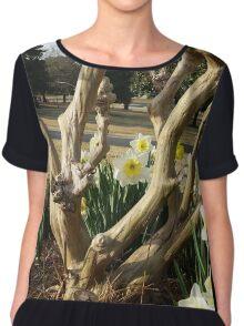 Twisted Daffodils Chiffon Top