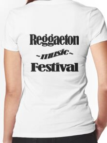 Reggaeton Music Festival 1 Women's Fitted V-Neck T-Shirt