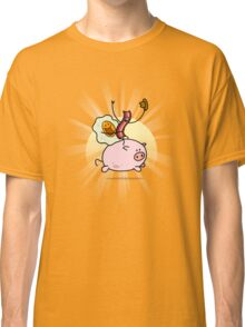 Bacon & Egg Ride Pig Classic T-Shirt